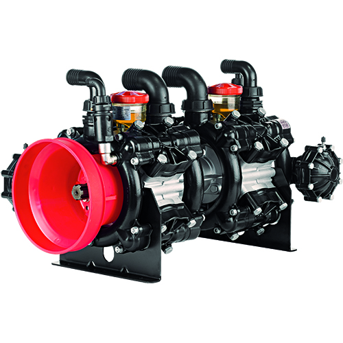 AR320 - AR370 - 550 RPM - Semi-Hydraulic Eight (Four Plus Four) Diaphragm Pump