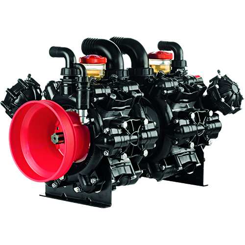 AR500 - AR560 - 550 RPM - Semi-Hydraulic Twelve (Six Plus Six) Diaphragm Pump