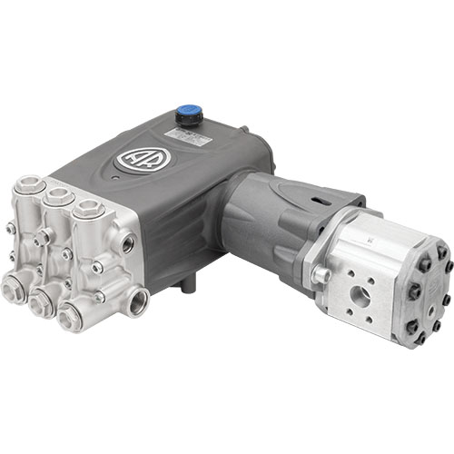 RTX 1450 RPM Hydraulic Drive Pump with F50 Flange, Mounting Rails and Hydraulic Motor